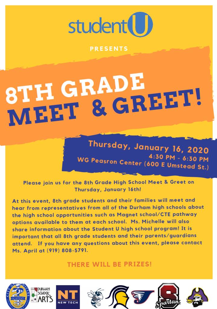 8th Grade Meet and Greet -English